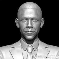 president barack obama zbrush 3ds