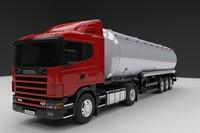 scania r420 tanker 3d max