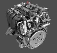 4 cylinder engine 3d model