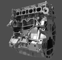 3d model 4 cylinder engine
