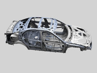 3d model of car frame a8