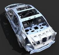 car frame a8 3d model