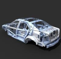 car frame a8 3d max