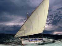 Latin Sail Fishing Boat