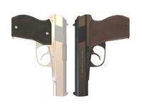 3d pistols model