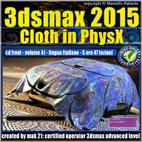 Video Corso 3ds max 2015 Cloth PhsyX vol 41 cd front