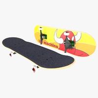 3d fbx skate skateboard