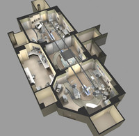 floorplan equipment 3d model