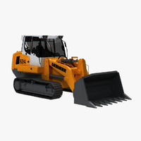 crawler loader 3d model