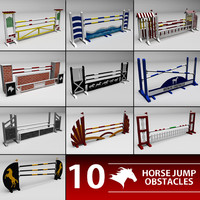 horse jumping obstacle 3d 3ds