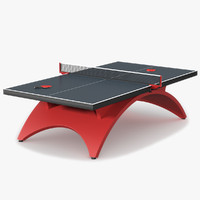3d model of ping pong table