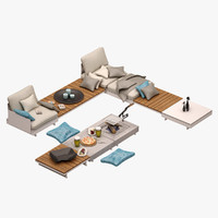 3d pure sofa set