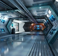 sci-fi wind tunnel 3d c4d
