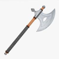 knight axe 3d model
