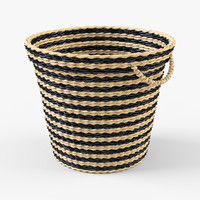 3d model of wicker basket ikea maffens