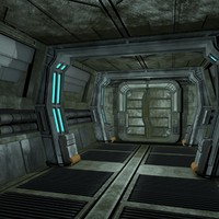 maya sci fi corridor
