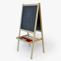 easel children child 3d model