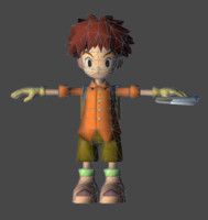 3d model psp - digimon adventure