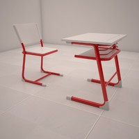 3ds max school desk