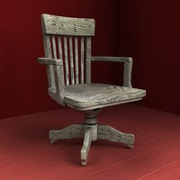 max old wooden armchair