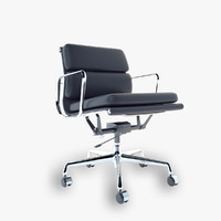 3d model of vitra soft pad chair