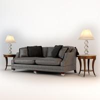 sofa duresta hornblower tables 3d model