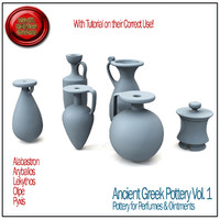 3d obj ancient greek pottery vol 1