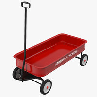 3d model childs wagon 2