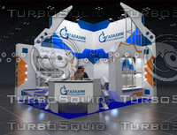 exhibition stand 3d blend