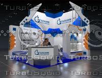 exhibition stand 3d blend