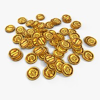 gold coins 3d max