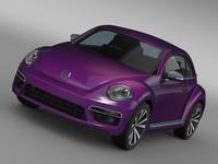 3d beetle pink edition concept