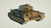 3d t-34 tank