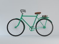 Lowpoly Vintage Bicycle