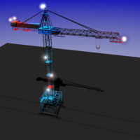 3dsmax tower crane kbgs-450 industry