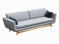 sofa red edition scandinavian 3d max