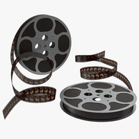 3ds max video film reel set