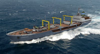 3d commercial cargo freighter model