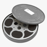 3d video film reel case