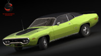 3d plymouth gtx 426 1970 model