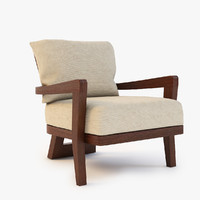 3d model hourglass lounge chair