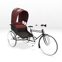 3d model cycle rickshaw