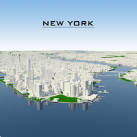3d new york cityscape model