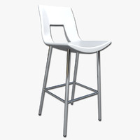 3d 3ds bar stool