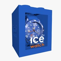 blue ice watch 3d model