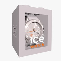 grey ice watch 3d model