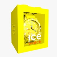 3d model yellow ice watch