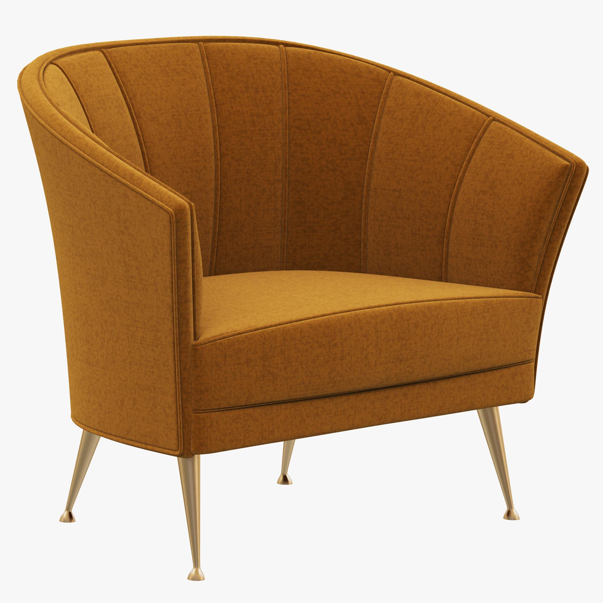 Brabbu armchair chair 3d max for Chair 3d model maya