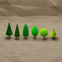 tree pack 4 3d obj