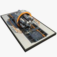3dsmax futuristic reactor 2